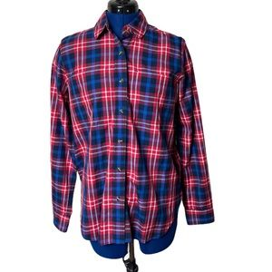 Roots Plaid Long Sleeve Button Down Shirt …